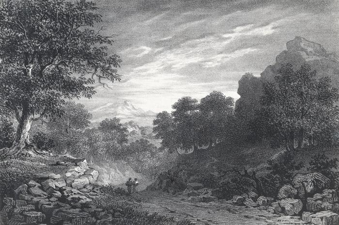 A scene in Oxwich bay, Glamorganshire