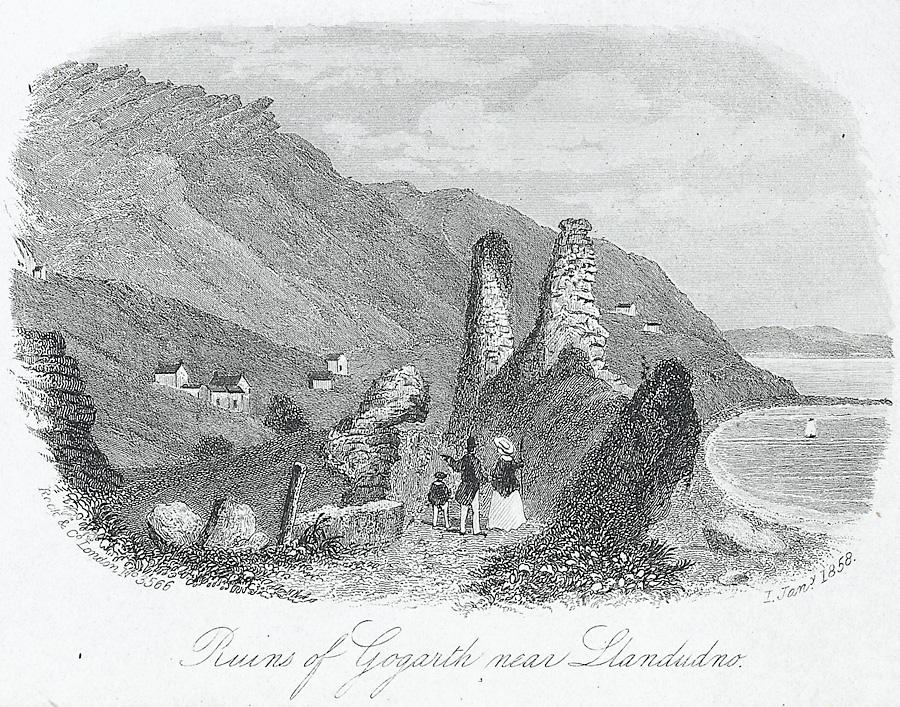 Ruins of Gogarth near Llandudno