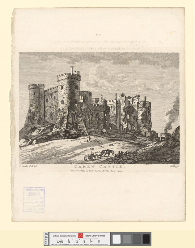 Carew castle Oct 1st 1779