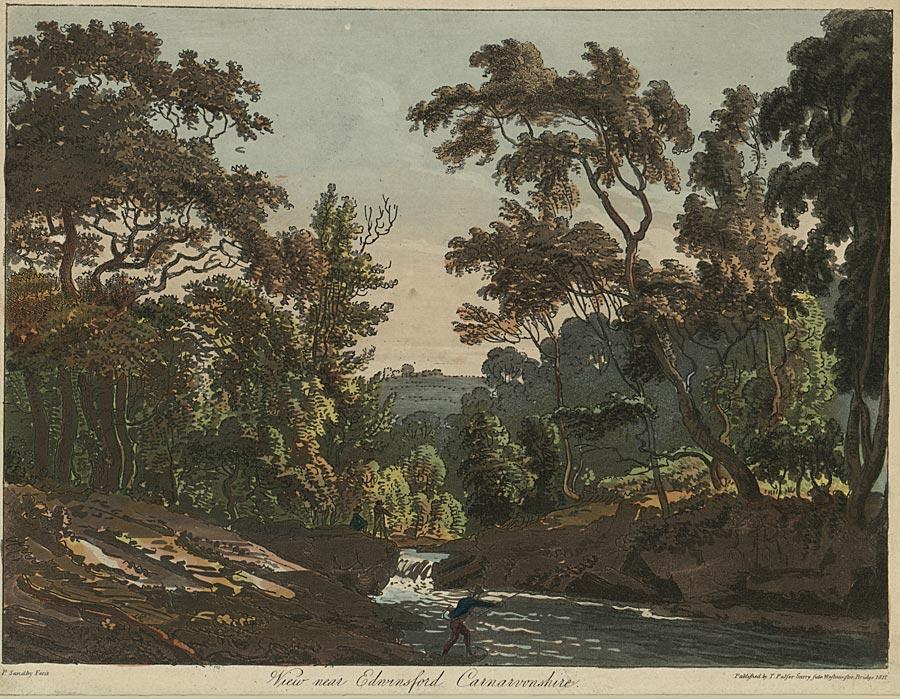 View near Edwinsford, Carnarvonshire [sic]