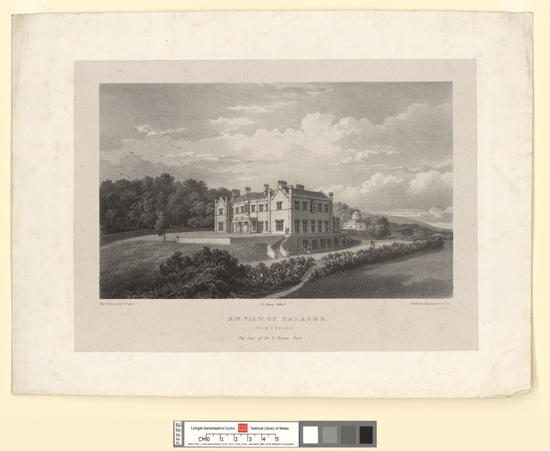 N.W. view of Talacre, Flintshire. The seat of Sir E. Mostyn, Bart