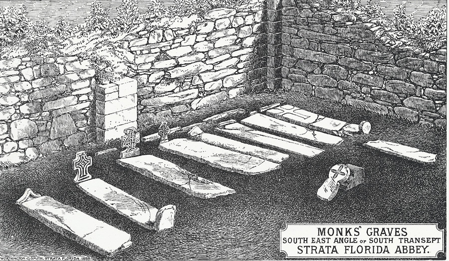 Monks' Graves, South East Angle of South Transept, Strata Florida