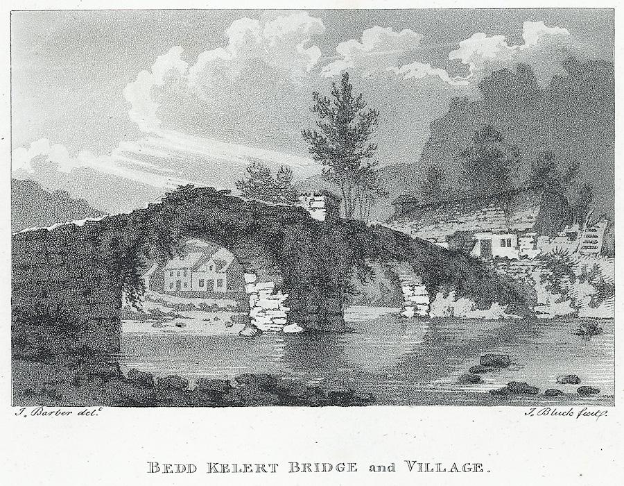Bedd kelert [Beddgelert] bridge and village