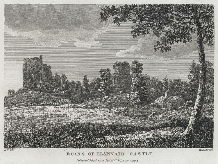 Ruins of Llanvair Castle