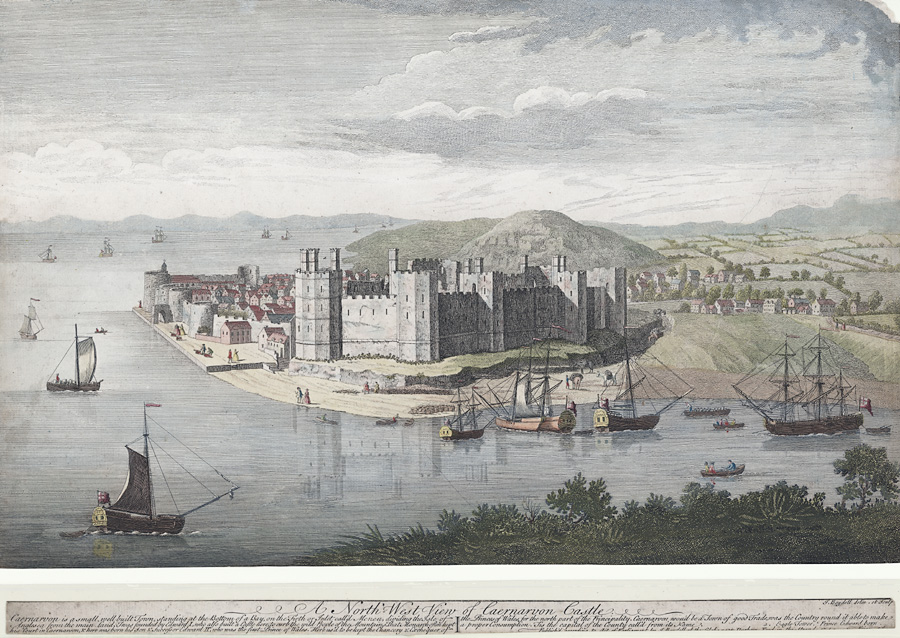 A north-west view of Caernarvon Castle