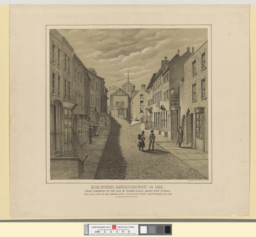 High street, Haverfordwest in 1822