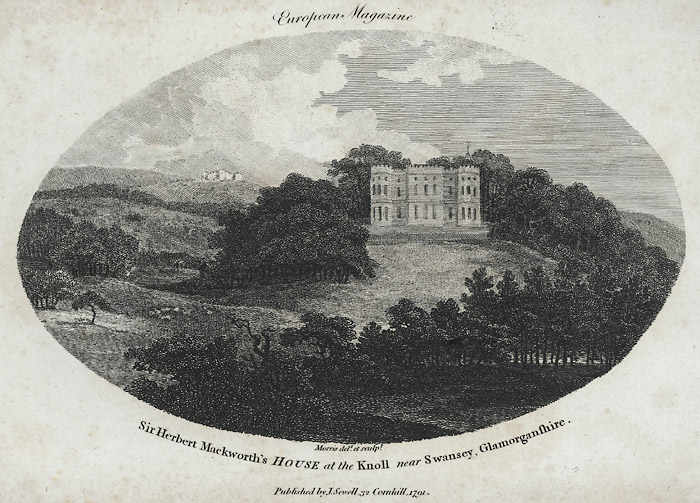 Sir Herbert Mackworth's house at the knoll near Swansey, Glamorganshire