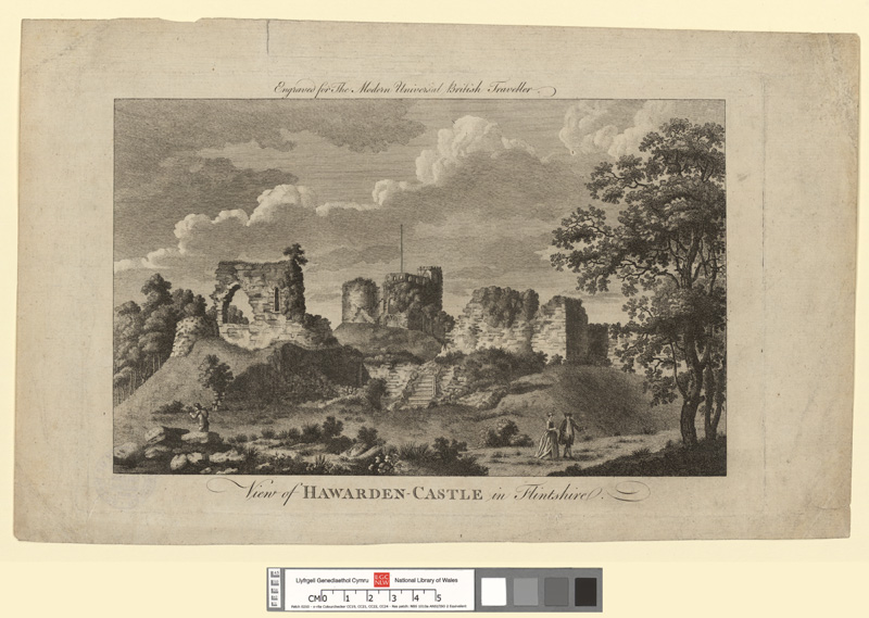View of Hawarden Castle in Flintshire
