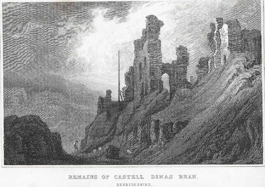Remains of Castell Dinas Bran, Denbighshire