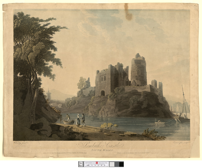 Pembroke castle, south Wales Jany 1st 1800