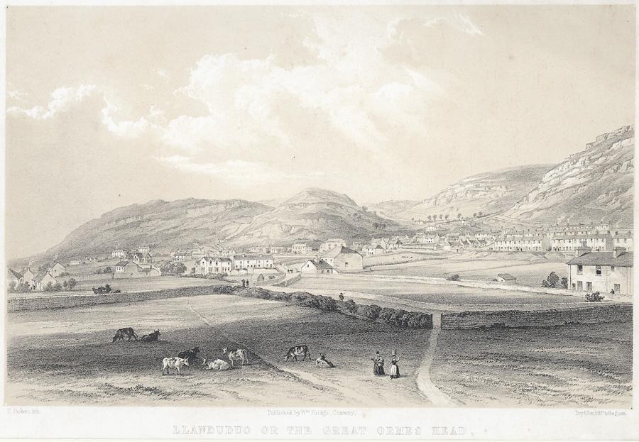 Llanduduo [i.e Llandudno] or the Great Ormes Head, from Pwll y Gwichiaid