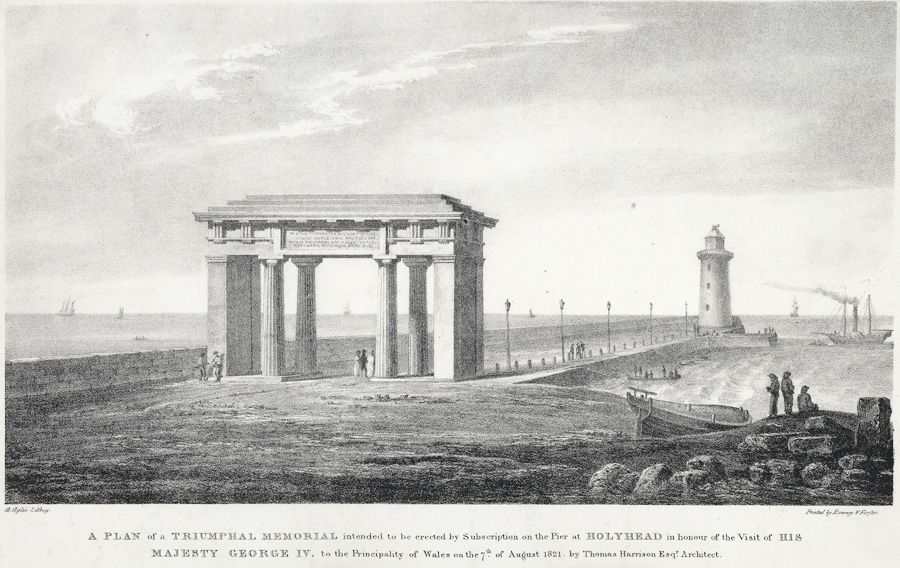 A plan of a triumphal memorial intended to be erected by subscription on the pier at Holyhead