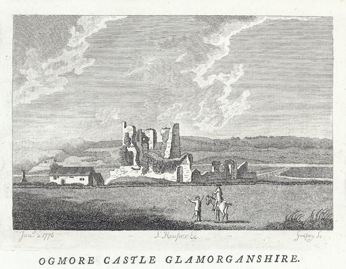Ogmore castle, Glamorganshire