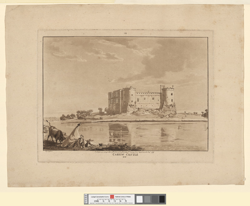 Carew castle N.W. Sept 1777