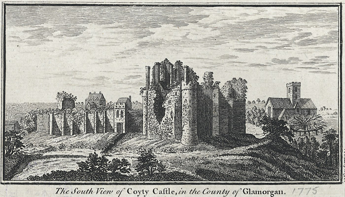 The south view of Coyty castle, in the county of Glamorgan
