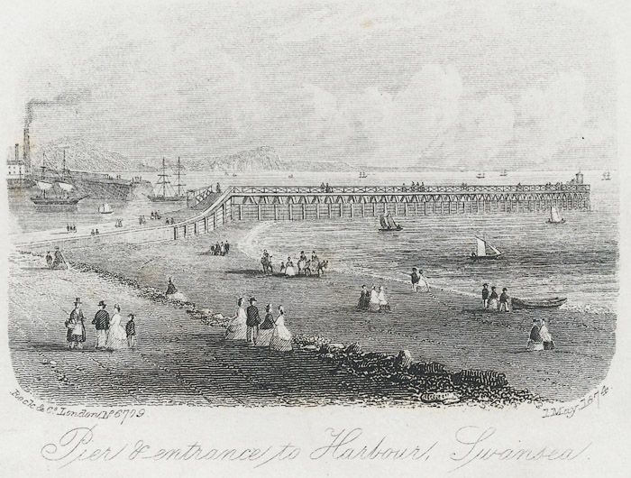 Pier & entrance to harbour, Swansea