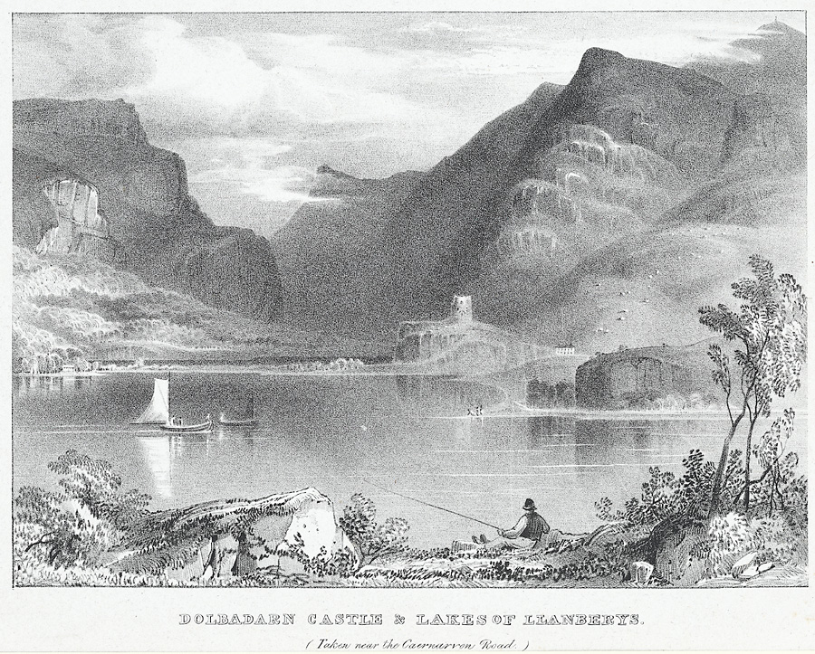 Dolbadarn Castle & lakes of Llanberys (taken near the Caernarvon road)