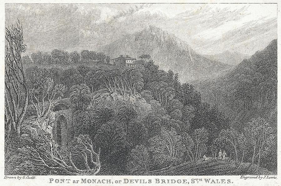Pont ar Monach, or Devils Bridge, Sth. Wales
