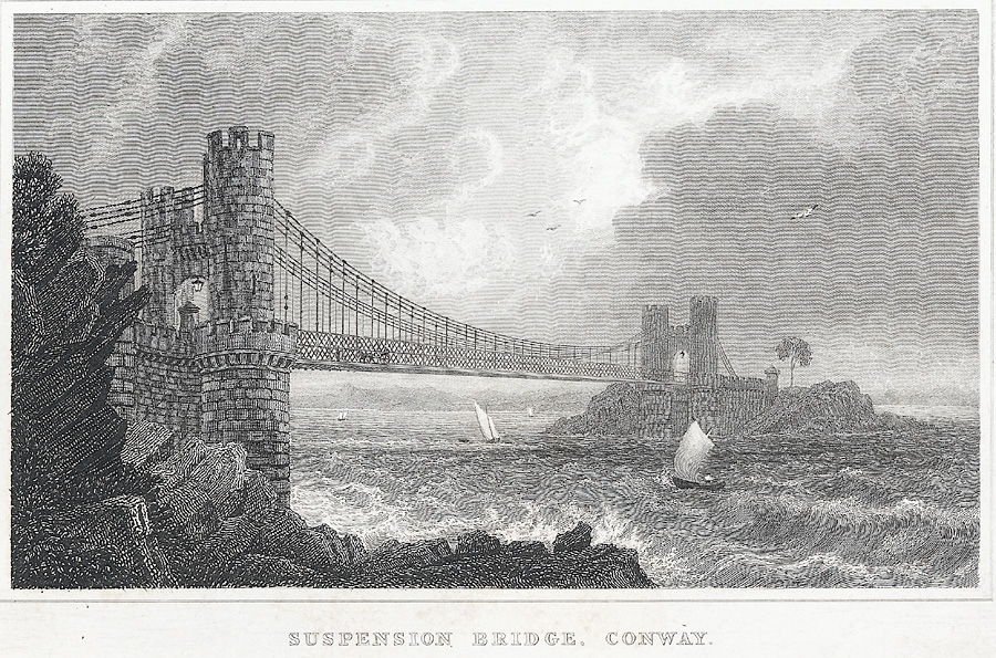 Suspension Bridge, Conway. Caernarvonshire
