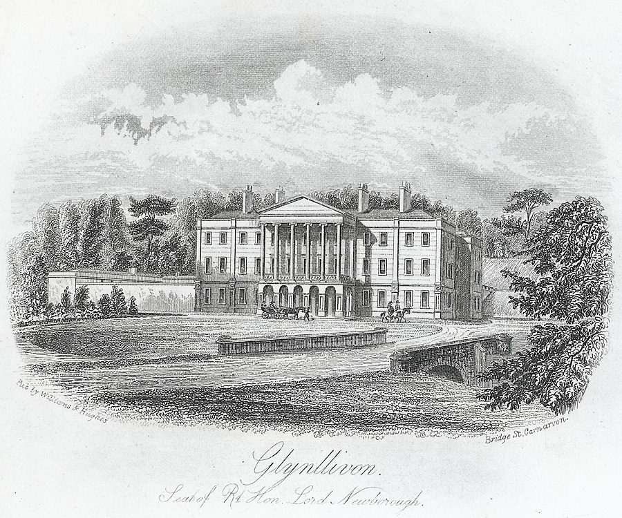 Glynllivon. Seat of Rt. Hon. Lord Newborough
