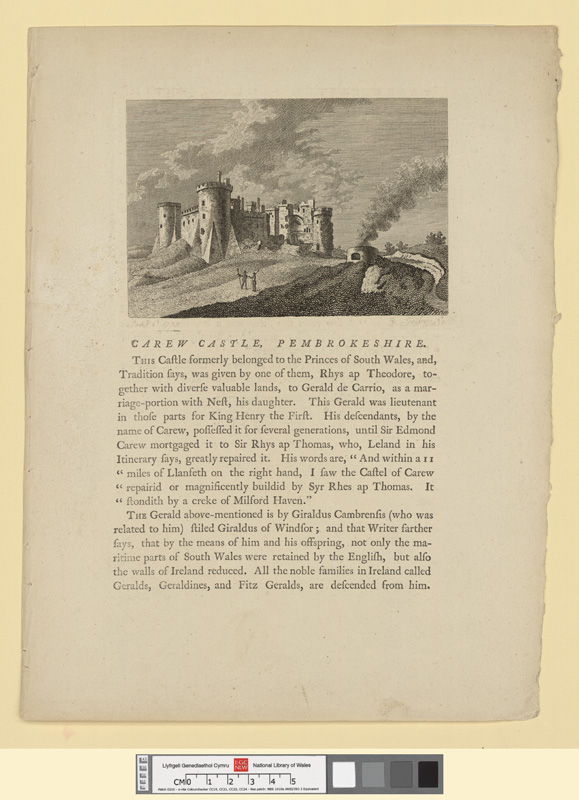 Carew castle, Pembrokeshire 1775