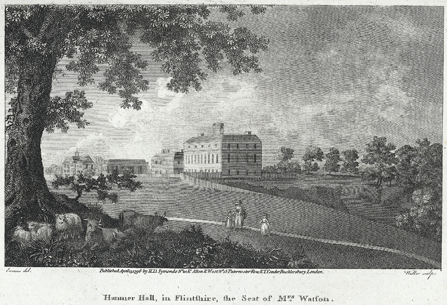 Hanmer Hall, in Flintshire, the seat of Mrs. Watson