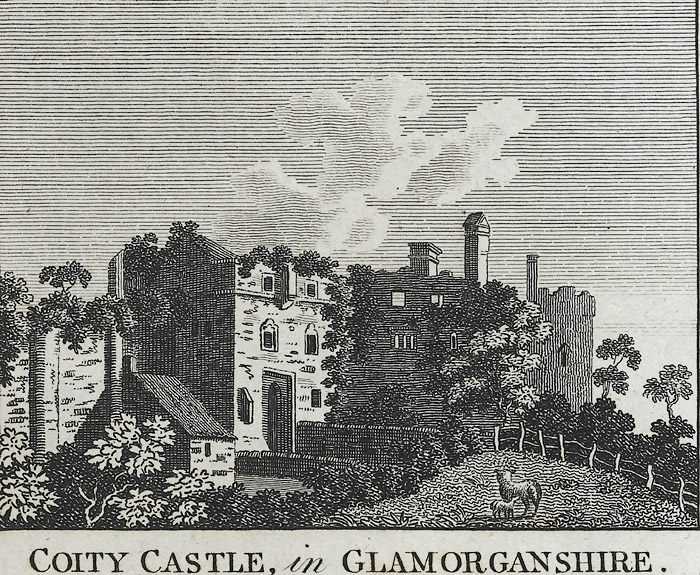 Coity castle, in Glamorganshire