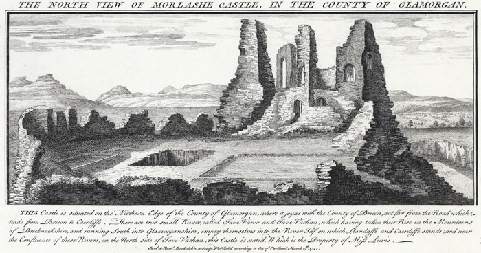 The north view of Morlashe castle, in the county of Glamorgan