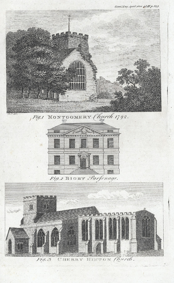 Montgomery Church, 1792. (with Bigby Parsonage & Cherry Hinton Ch.)