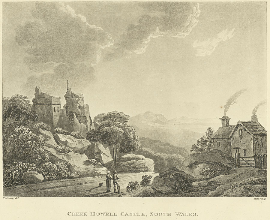 Creek Howell Castle, south Wales