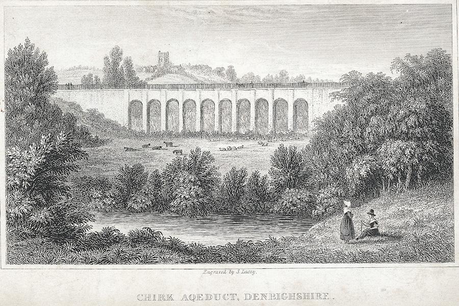 Chirk aqeduct [i.e. aqueduct], Denbighshire
