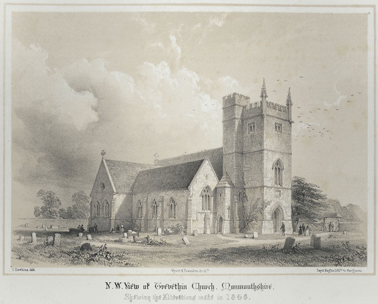 N. W. View of Trevethin Church, Showing the Alterations in 1846