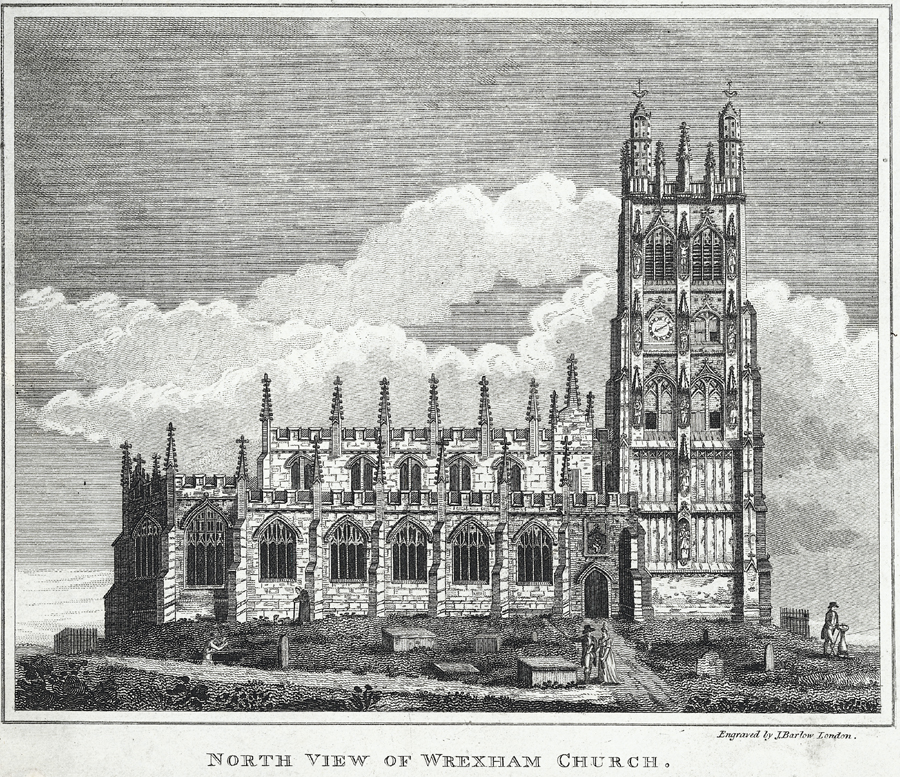North view of Wrexham church