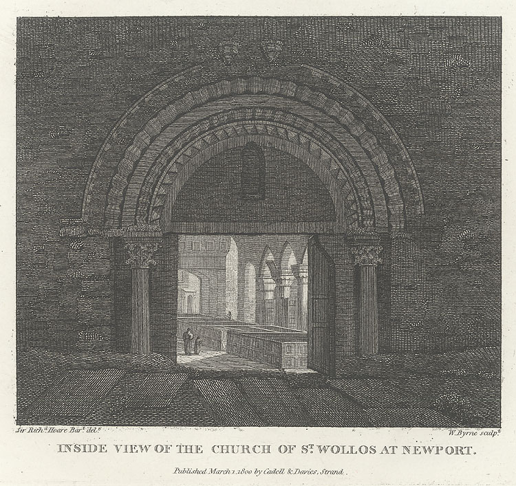 Inside View of the Church of St. Wollos [Woollos] Newport