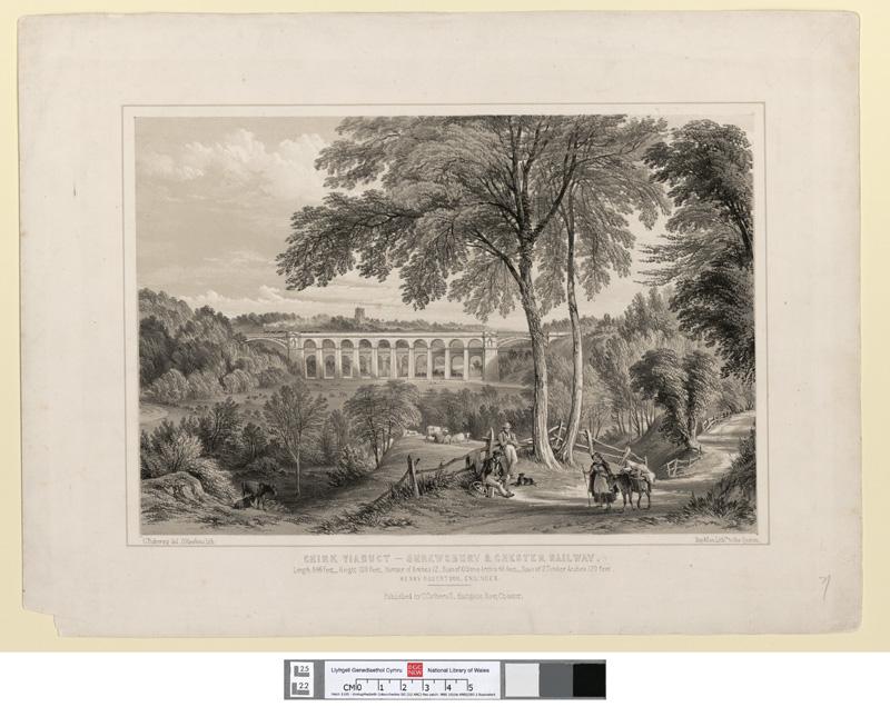 Chirk Viaduct - Shrewsbury & Chester Railway
