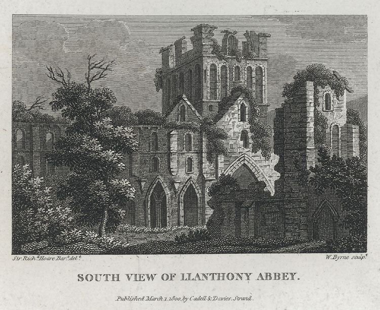 South View of Llanthony Abbey