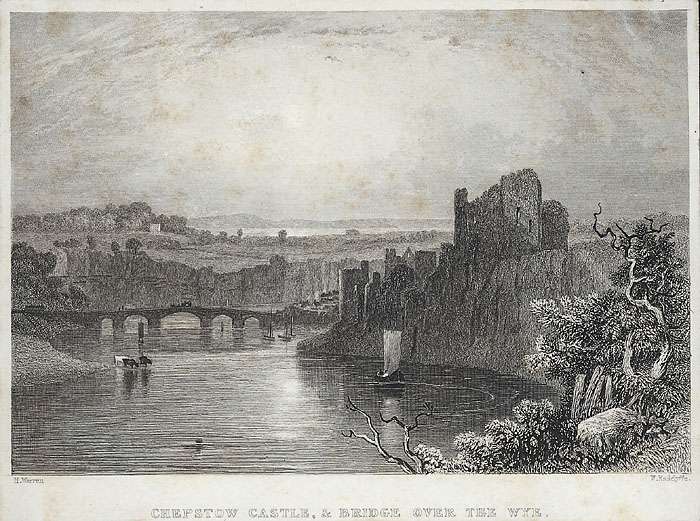Chepstow castle, & bridge over the Wye