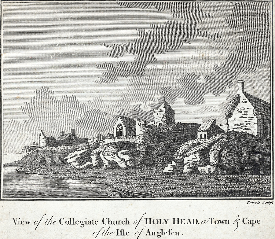View of the collegiate church of Holy Head, a town and cape of the Isle of Anglesey
