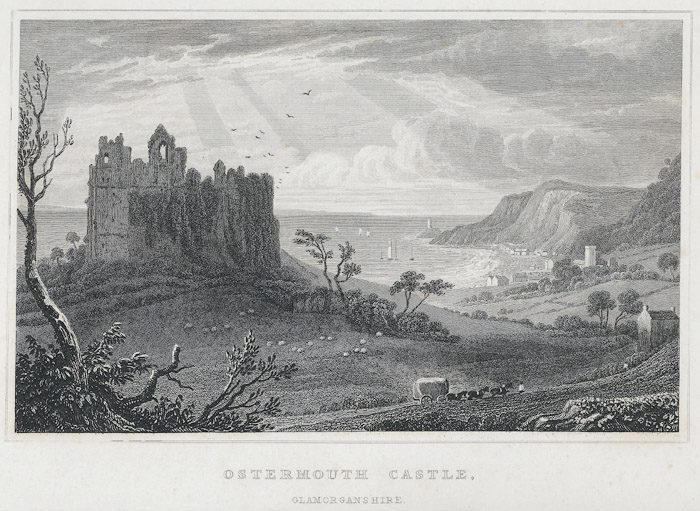 Ostermouth castle, Glamorganshire