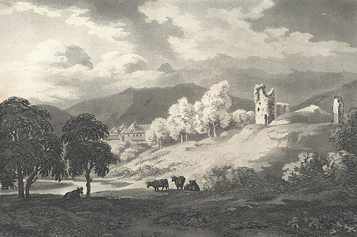 [Remains of castle at Abergavenny]