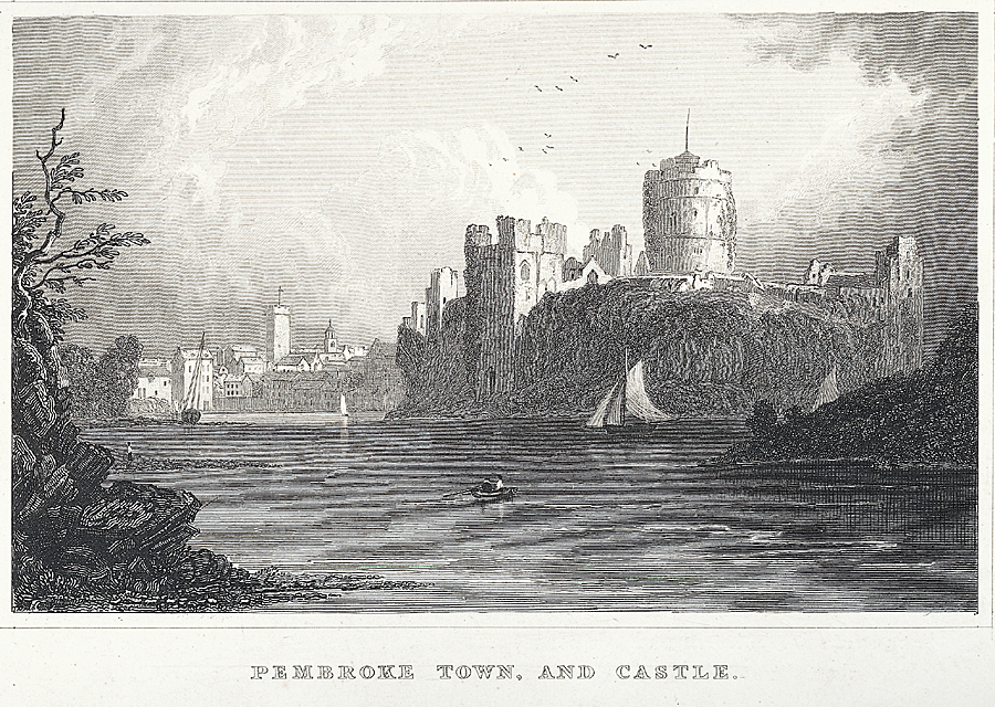 Pembroke town, and castle