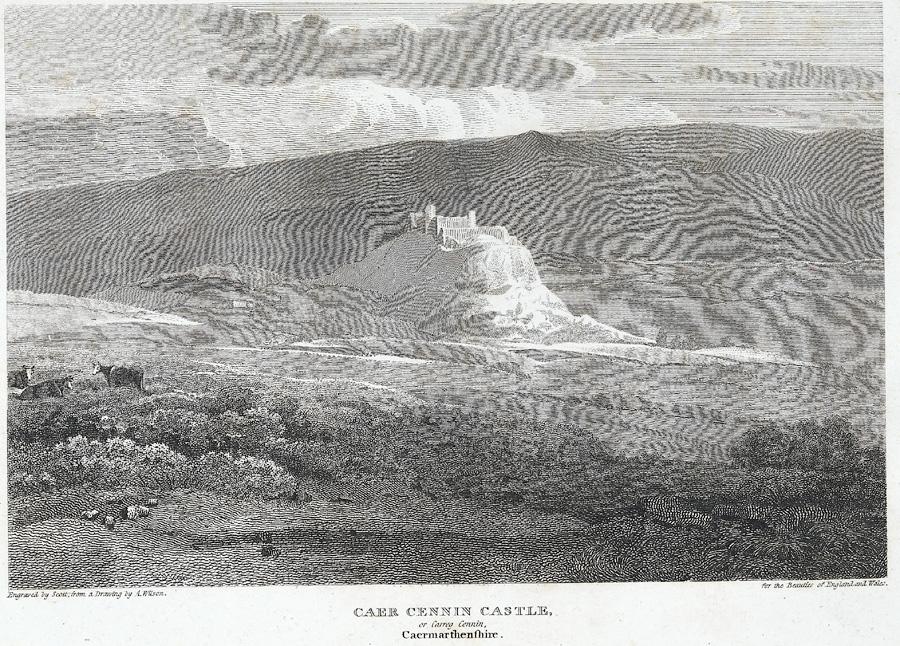 Caer Cennin Castle, or Carreg Cennin, Caermarthenshire