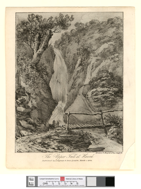 The upper fall at Havod