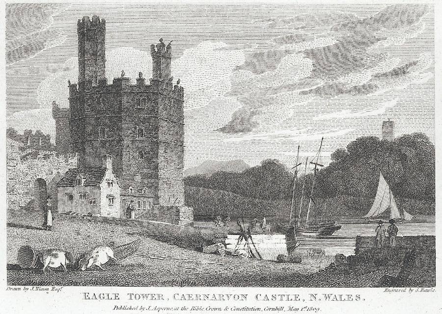 Eagle Tower, Caernarvon Castle, N. Wales