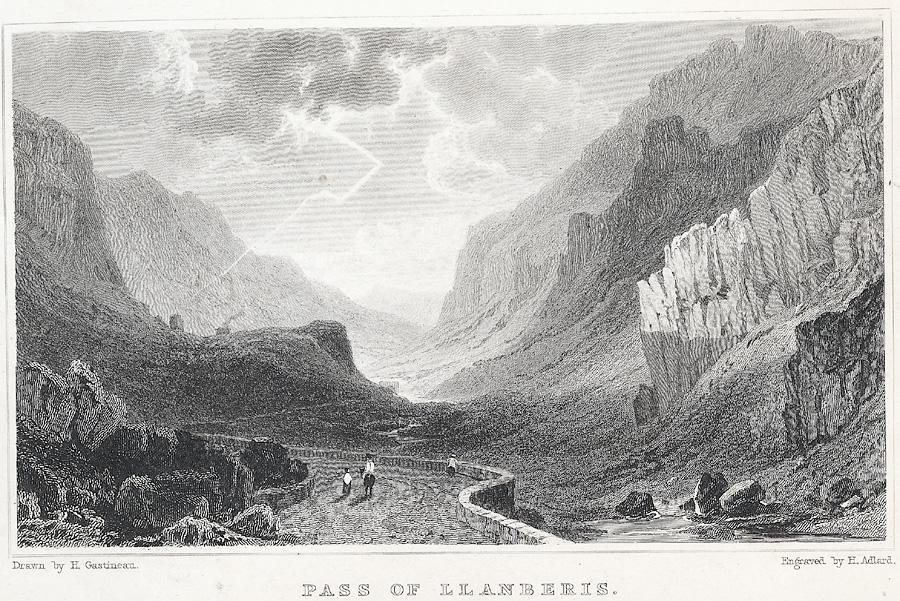 Pass Of Llanberis. Near Capel Curig, Caernarvonshire
