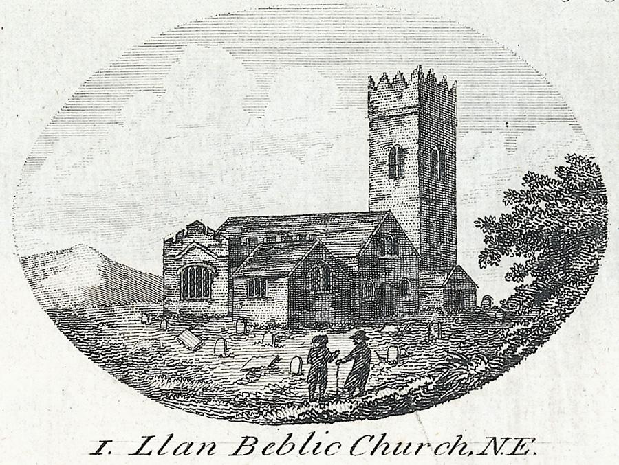 Llan Beblic Church, N.E