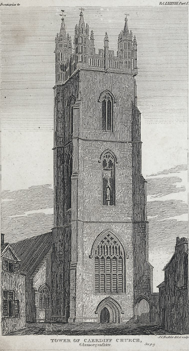 Tower of Caerdiff church, Glamorganshire