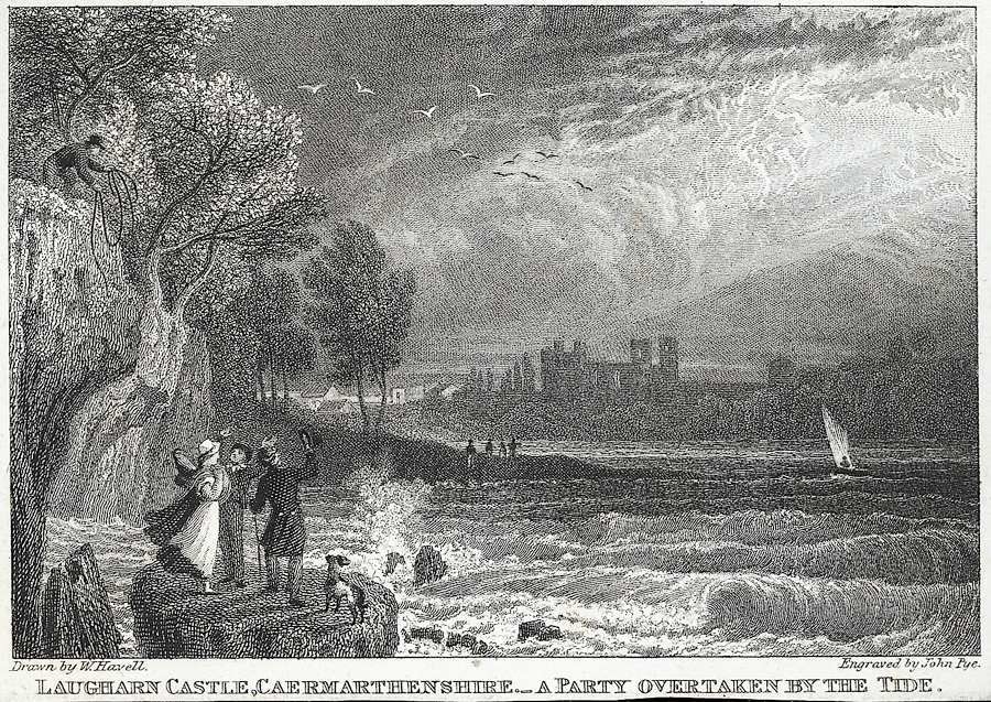 Laugharn Castle, Caermarthenshire.. A Party Overtaken By The Tide