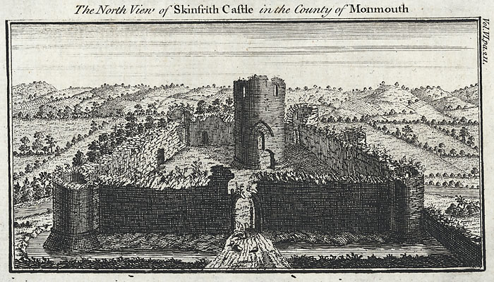 The north view of Skinfrith Castle, in the county of Monmouth