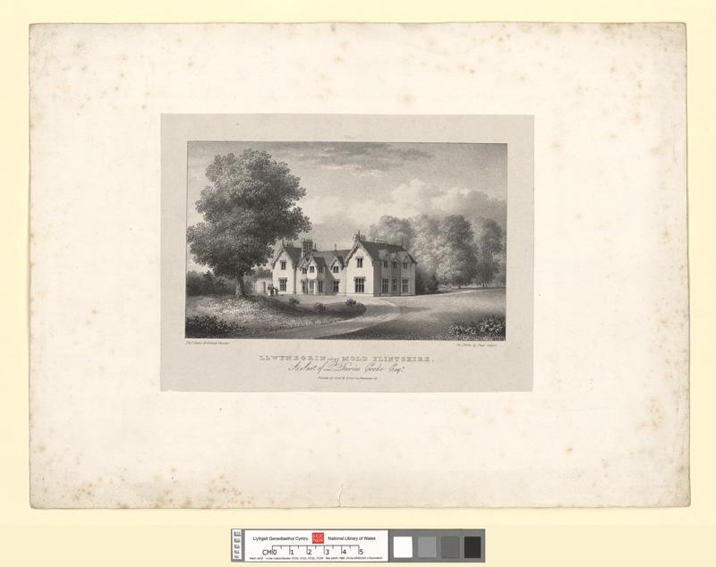 Llwynegrin near Mold, Flintshire. A Seat of P. Davies Cooke Esqr
